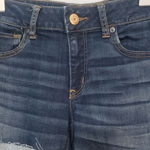 American Eagle Outfitters Shorts - AEO Cafe Midi Denim Jean Shorts